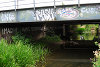 IMAGINE graffiti made by Bill Drummond underneath railway bridge in Northampton, England - 8 July 2010. Photograph: Tracey Moberly